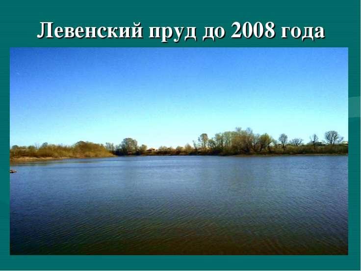 Левенский пруд до 2008 года