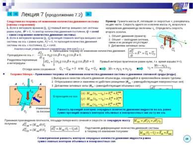Теорема Эйлера – Применение теоремы об изменении количества движения системы ...