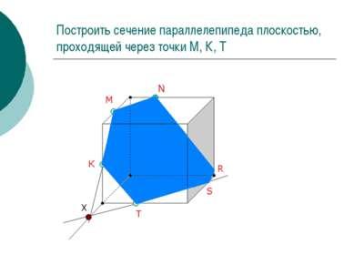 Построить сечение параллелепипеда плоскостью, проходящей через точки М, К, Т ...