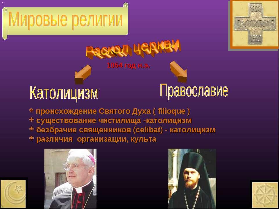 происхождение Святого Духа ( filioque ) существование чистилища -католицизм б...