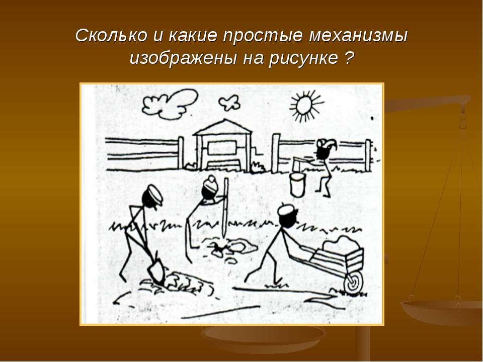 Сколько и какие простые механизмы изображены на рисунке ?