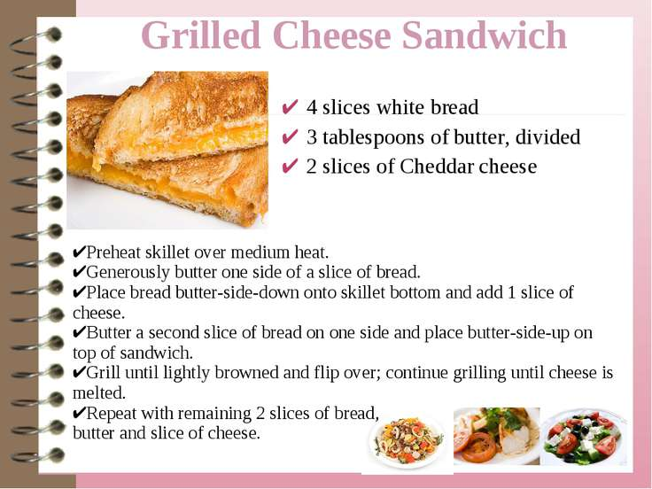 4 slices white bread 3 tablespoons of butter, divided 2 slices of Cheddar che...