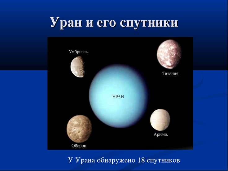 Уран и его спутники У Урана обнаружено 18 спутников