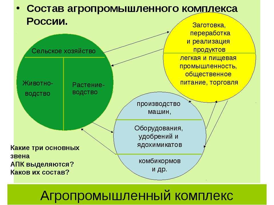 Агропромышленный комплекс Состав агропромышленного комплекса России. Заготовк...