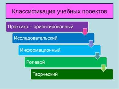 Классификация учебных проектов
