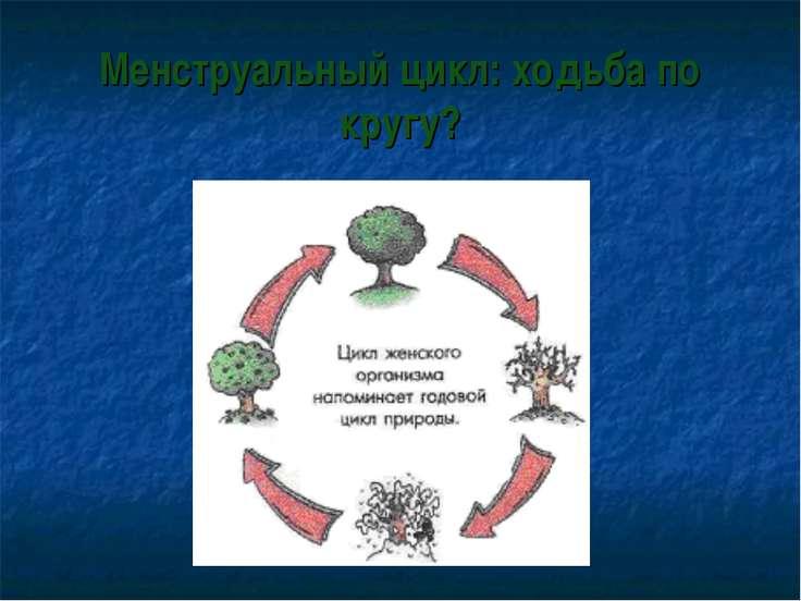 Менструальный цикл: ходьба по кругу?
