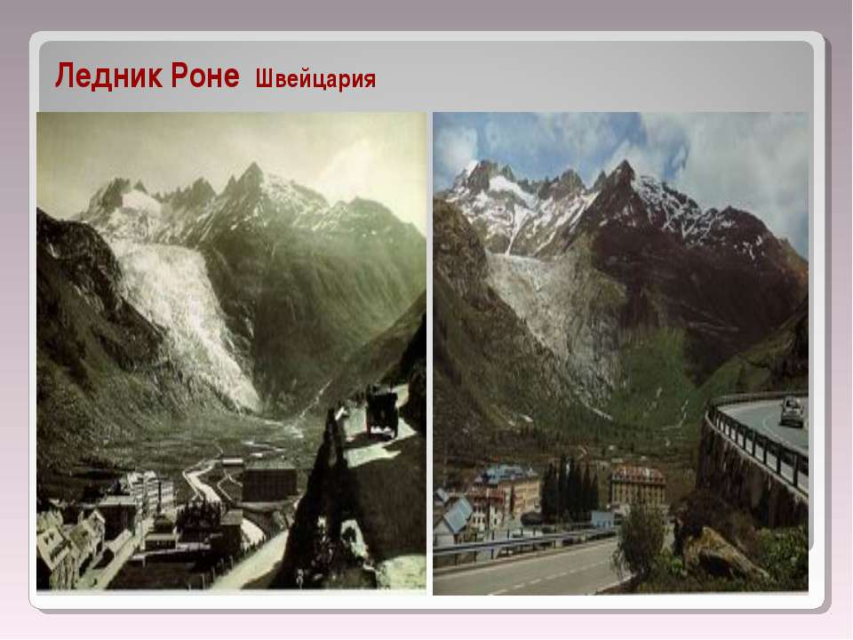 Ледник Роне Швейцария