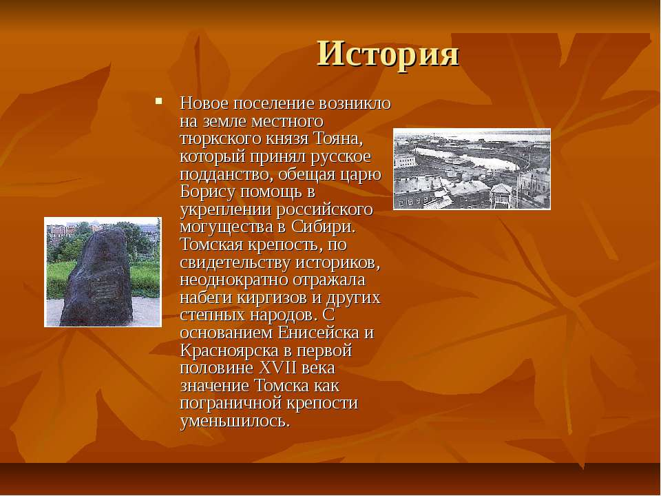 История Новое поселение возникло на земле местного тюркского князя Тояна, кот...