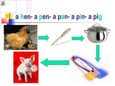 a hen- a pen- a pan- a pin- a pig