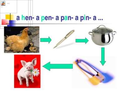 a hen- a pen- a pan- a pin- a ...
