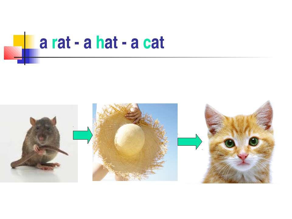 a rat - a hat - a cat
