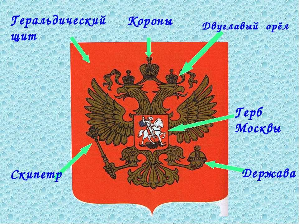 Короны Геральдический щит Двуглавый орёл Герб Москвы Держава Скипетр