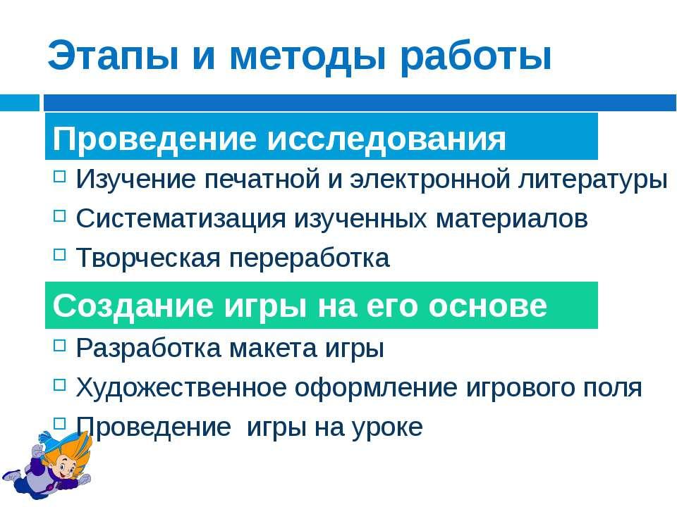 Изучение печатной и электронной литературы Систематизация изученных материало...
