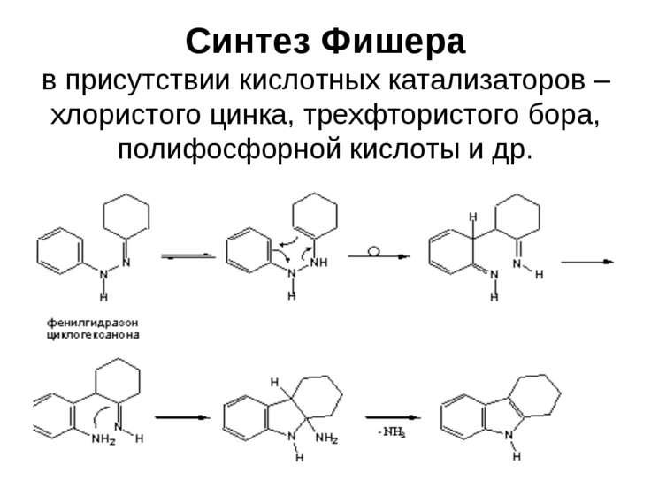 Синтез Фишера в присутствии кислотных катализаторов – хлористого цинка, трехф...