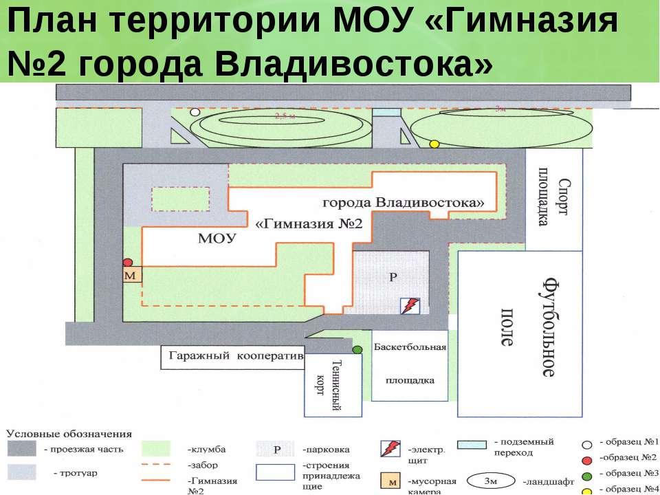 План территории МОУ «Гимназия №2 города Владивостока»