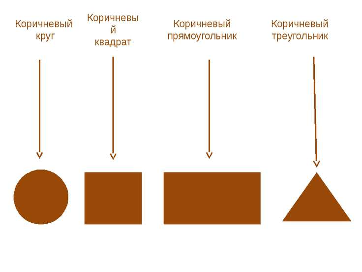 Коричневый квадрат Коричневый круг Коричневый прямоугольник Коричневый треуго...