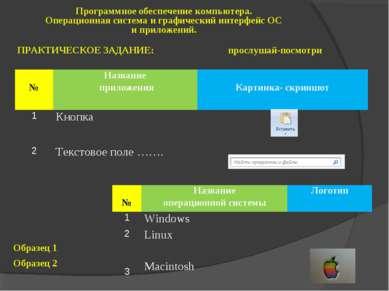 Программное обеспечение компьютера. Операционная система и графический интерф...