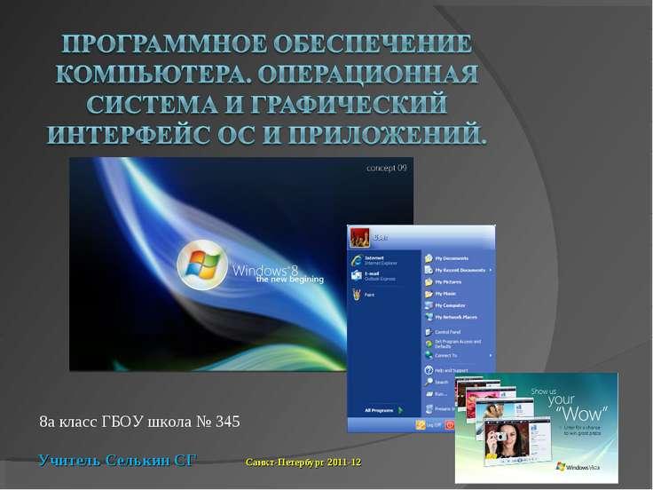 8а класс ГБОУ школа № 345 Учитель Селькин СГ Санкт-Петербург 2011-12