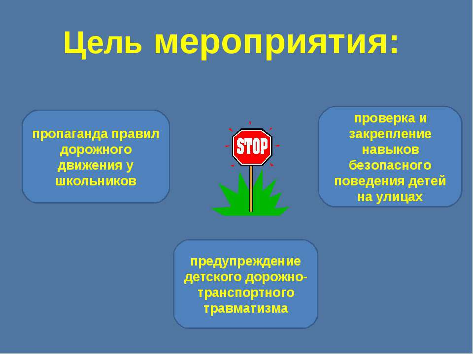 Цель мероприятия: предупреждение детского дорожно-транспортного травматизма п...