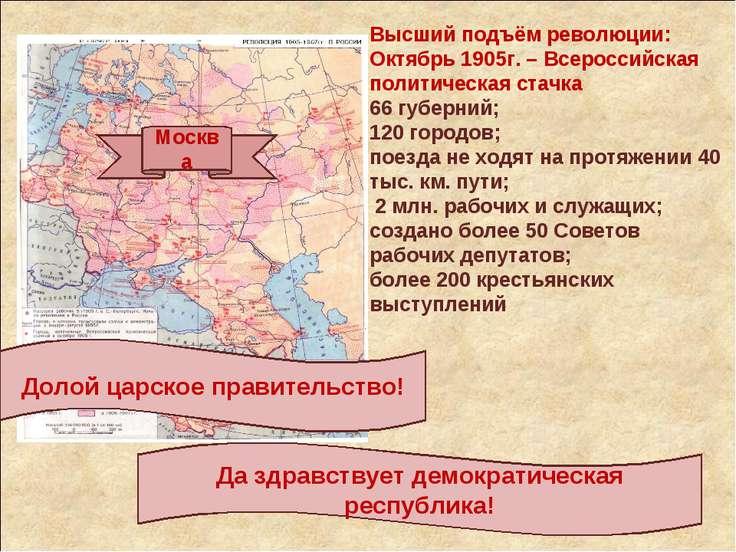 Высший подъём революции: Октябрь 1905г. – Всероссийская политическая стачка 6...