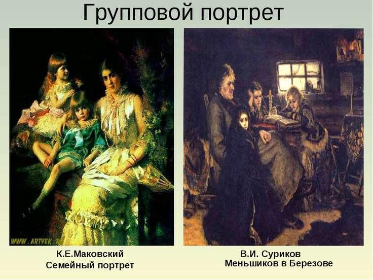 К.Е.Маковский Семейный портрет Меньшиков в Березове Групповой портрет В.И. Су...