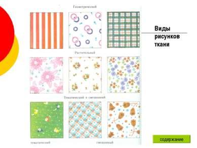 Виды рисунков ткани содержание