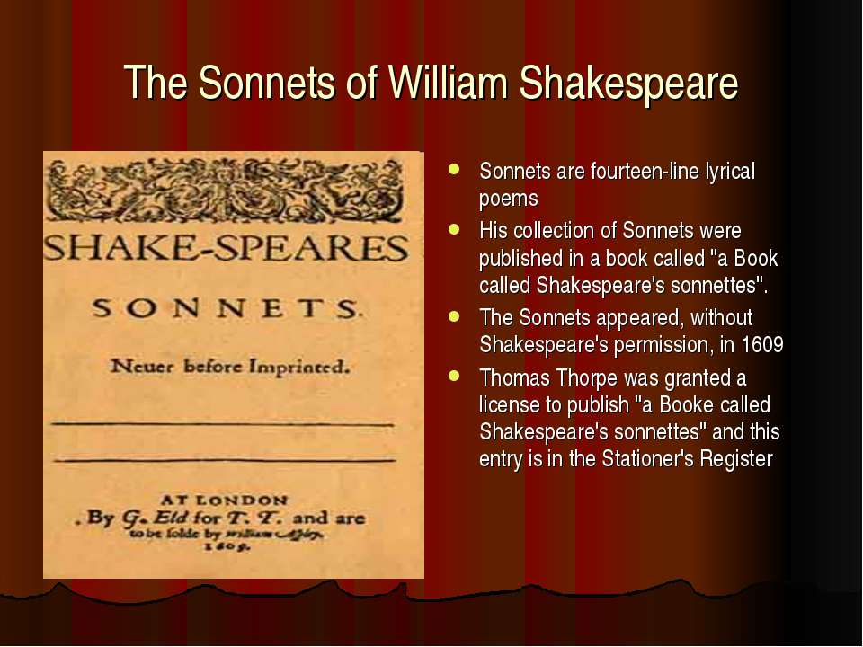 william shakespeares sonnet essay