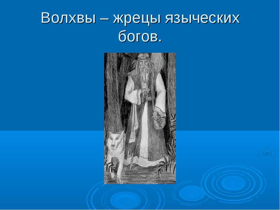 Волхвы – жрецы языческих богов.