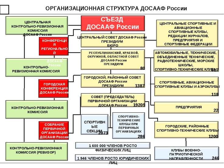 ОРГАНИЗАЦИОННАЯ СТРУКТУРА ДОСААФ России