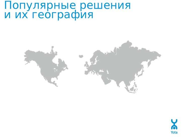Популярные решения и их география