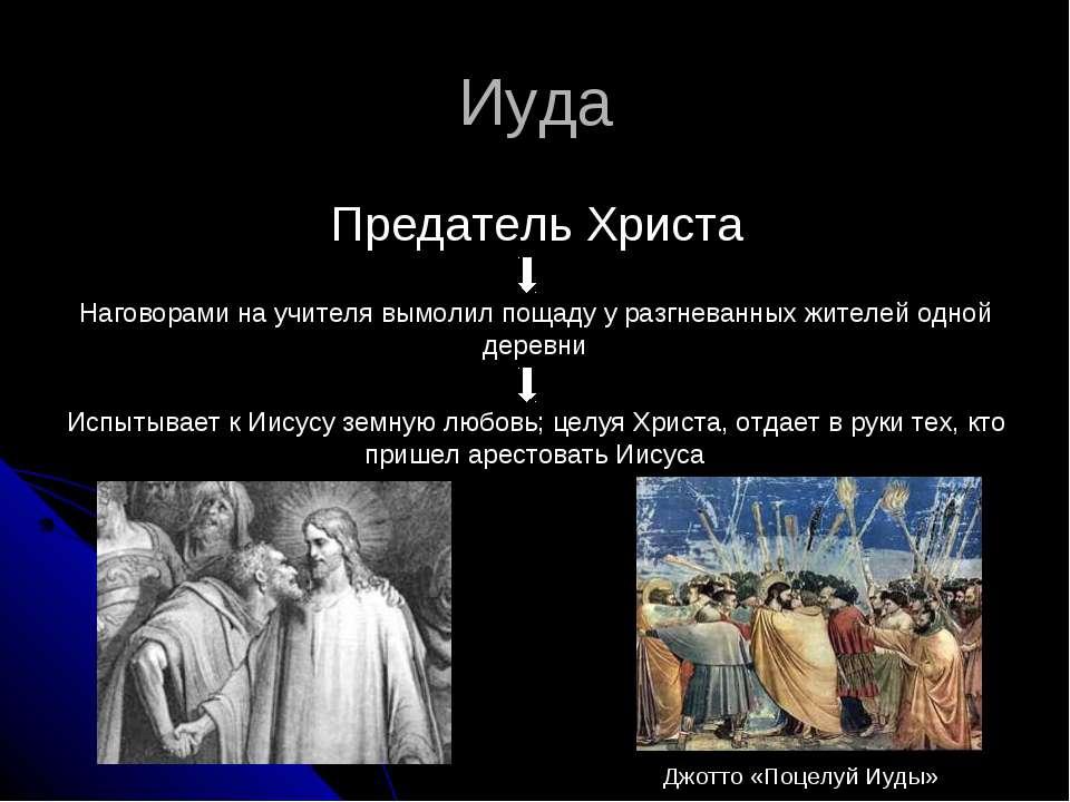 Иуда Предатель Христа Наговорами на учителя вымолил пощаду у разгневанных жит...