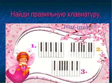 Найди правильную клавиатуру.
