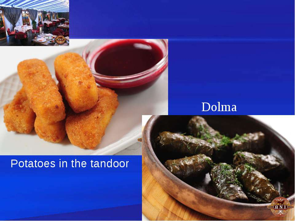 Potatoes in the tandoor Dolma