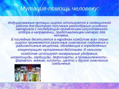 Мутация-помощь человеку: Индуцированные мутации широко используются в селекци...