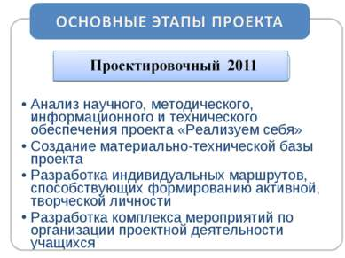 Анализ научного, методического, информационного и технического обеспечения пр...