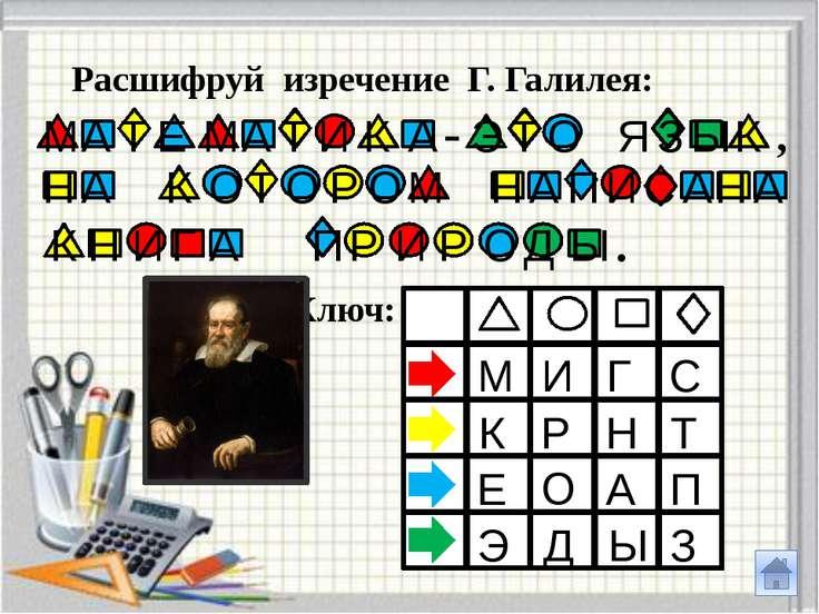Расшифруй изречение М. В. Ломоносова: Ключ: Ф А З К Р Е Я Т Д Г Ж Н В И У М П...