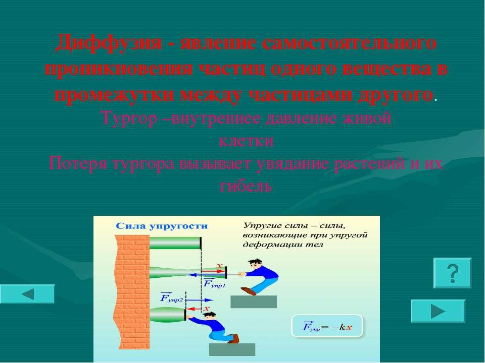 Диффузия - явление самостоятельного проникновения частиц одного вещества в пр...