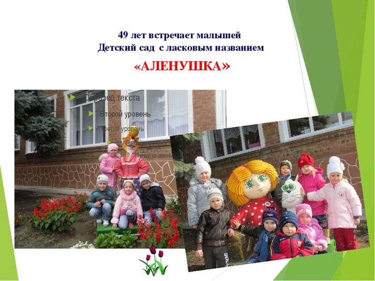 49 лет встречает малышей Детский сад с ласковым названием «АЛЕНУШКА»