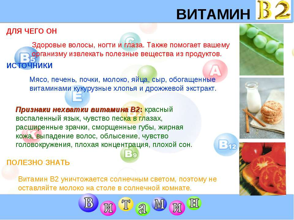 ВИТАМИН B2 ДЛЯ ЧЕГО ОН ИСТОЧНИКИ Признаки нехватки витамина В2: красный воспа...
