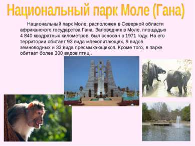 Национальный парк Моле, расположен в Северной области африканского государств...