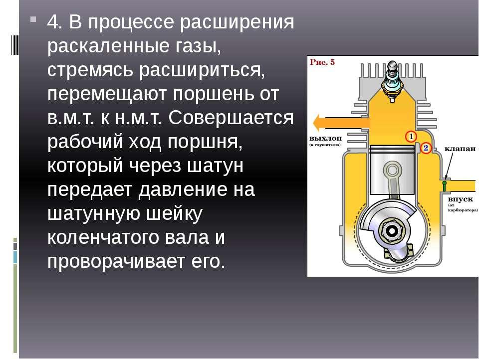 4. В процессе расширения раскаленные газы, стремясь расшириться, перемещают п...