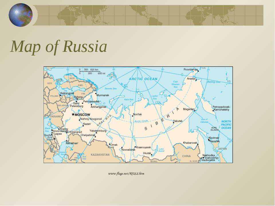 Map of Russia www.flags.net/RUSS.htm