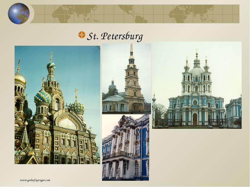St. Petersburg www.galenfrysinger.com