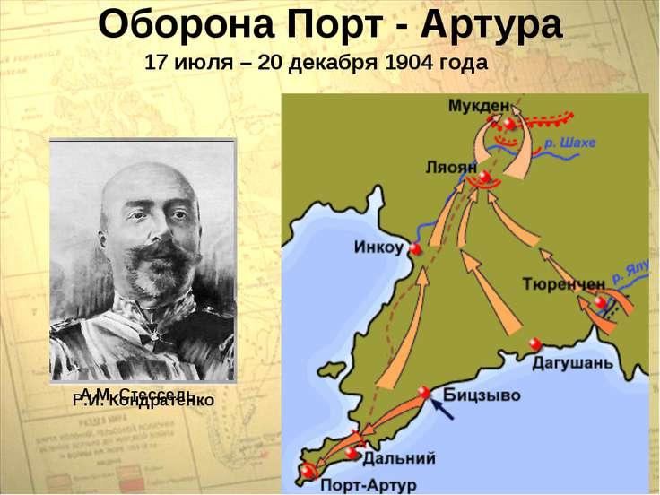 Оборона Порт - Артура 17 июля – 20 декабря 1904 года