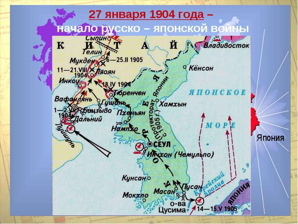 27 января 1904 года – начало русско – японской войны