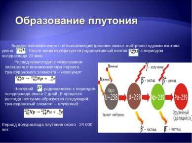 Важное значение имеет не вызывающий деления захват нейтронов ядрами изотопа у...