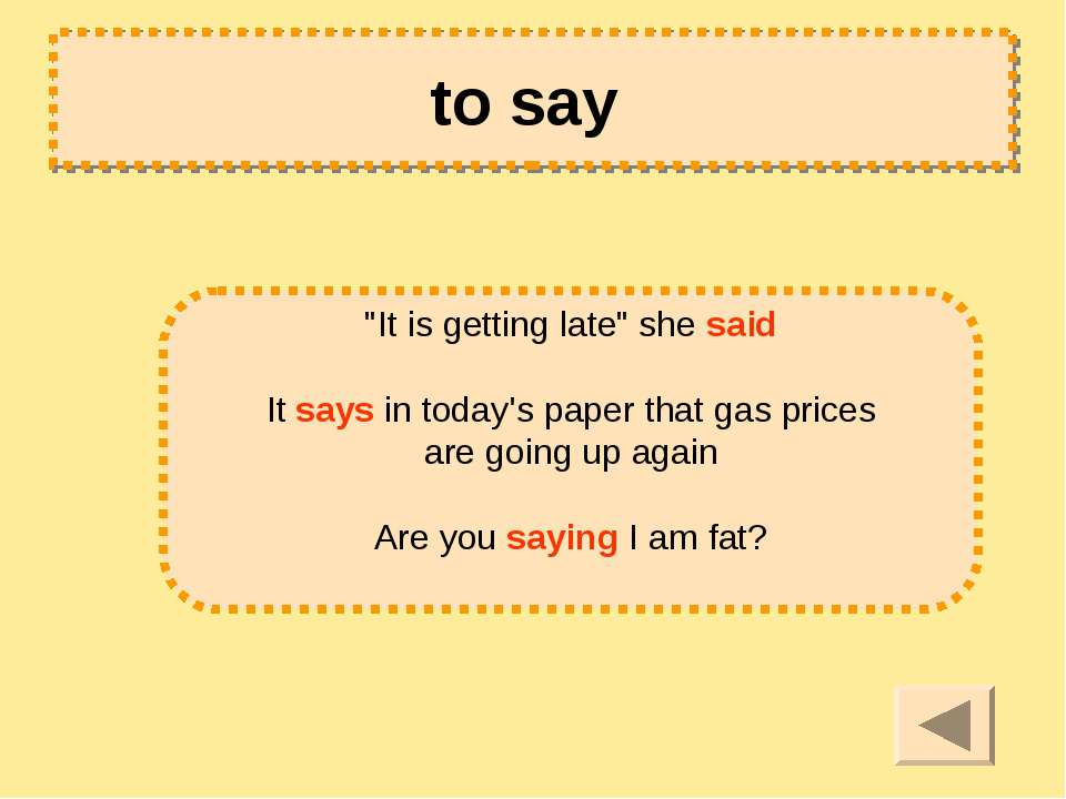 "to say ""It is getting late"" she said It says in today's paper that gas prices..."