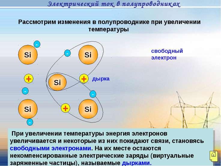 Рассмотрим изменения в полупроводнике при увеличении температуры При увеличен...