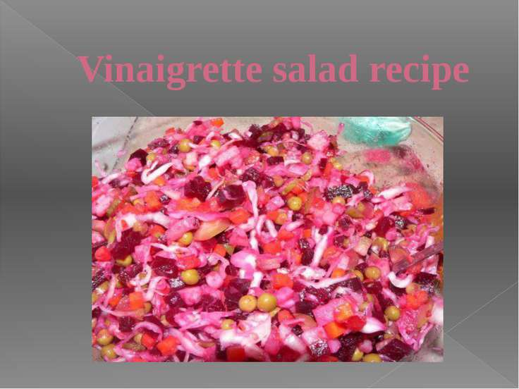 Vinaigrette salad recipe