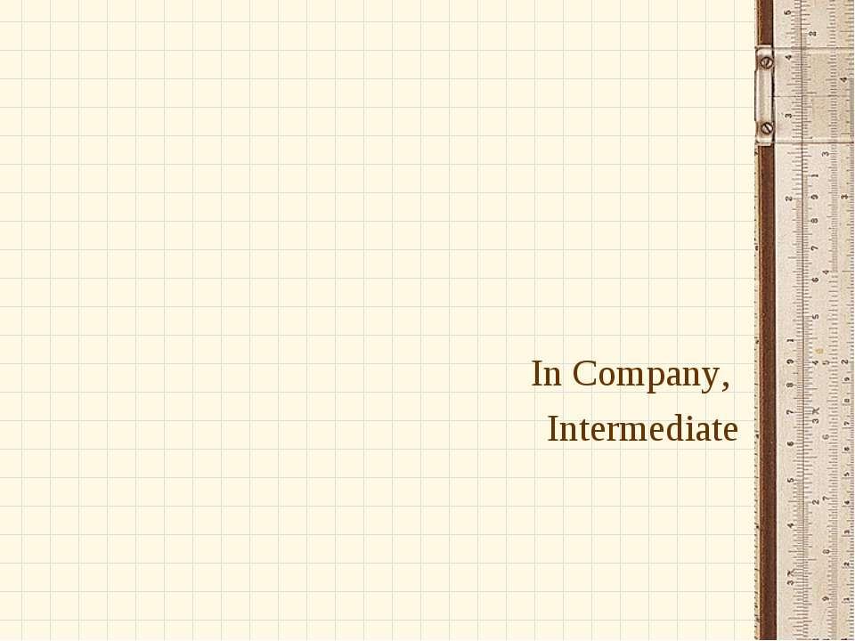 In Company, Intermediate